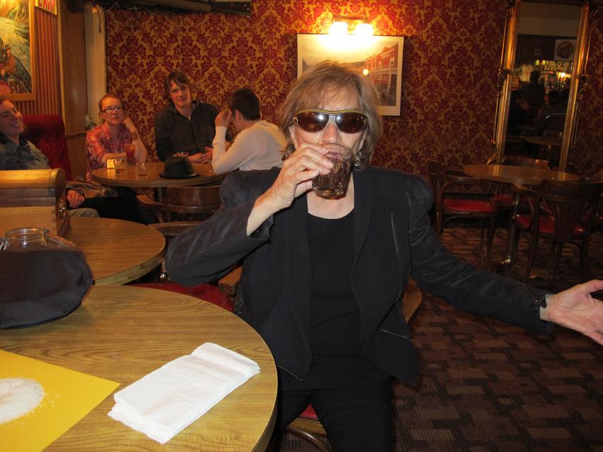 Liz in Dawson City bar Dawson City Toe