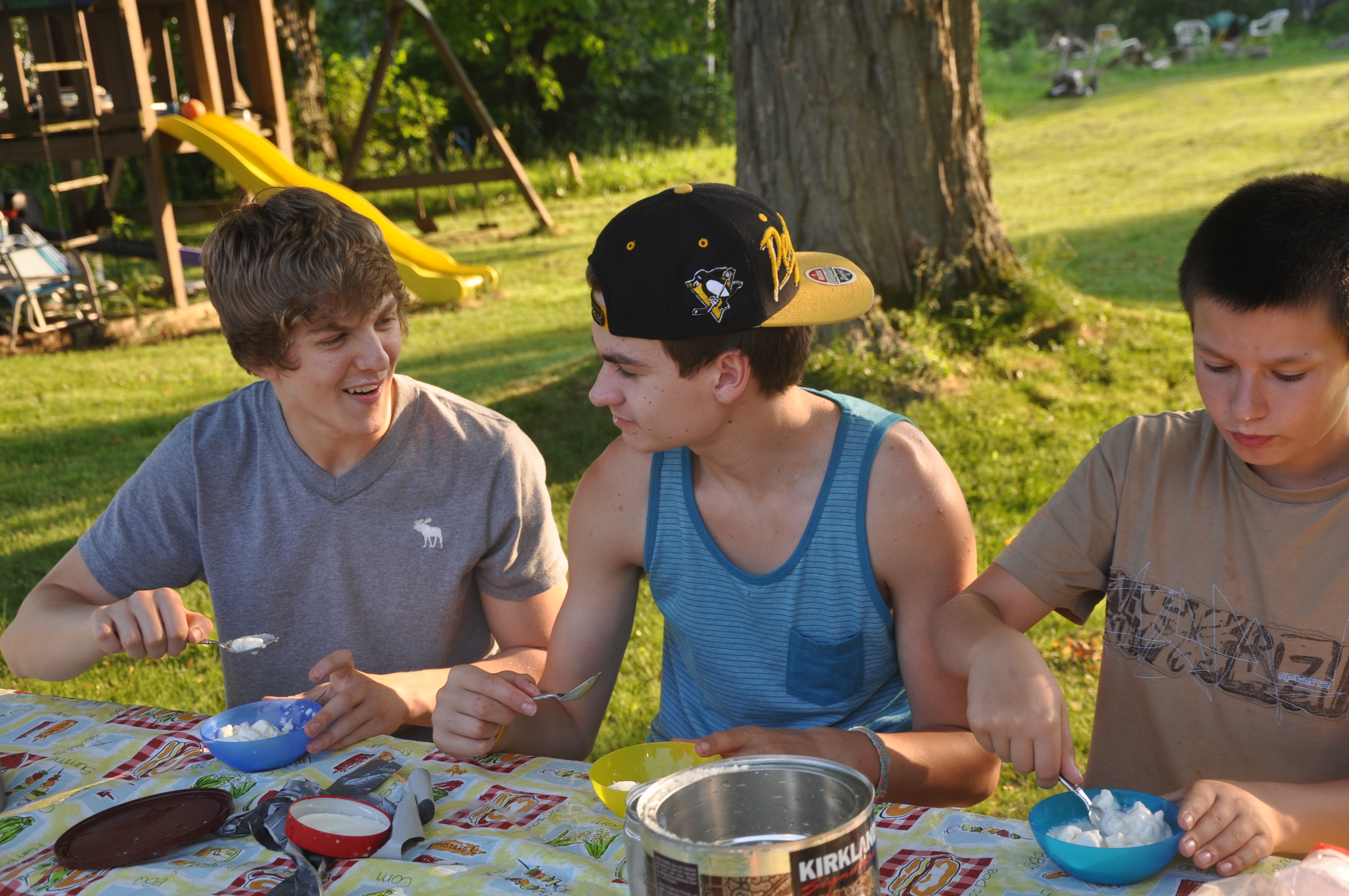 picnic table ice cream