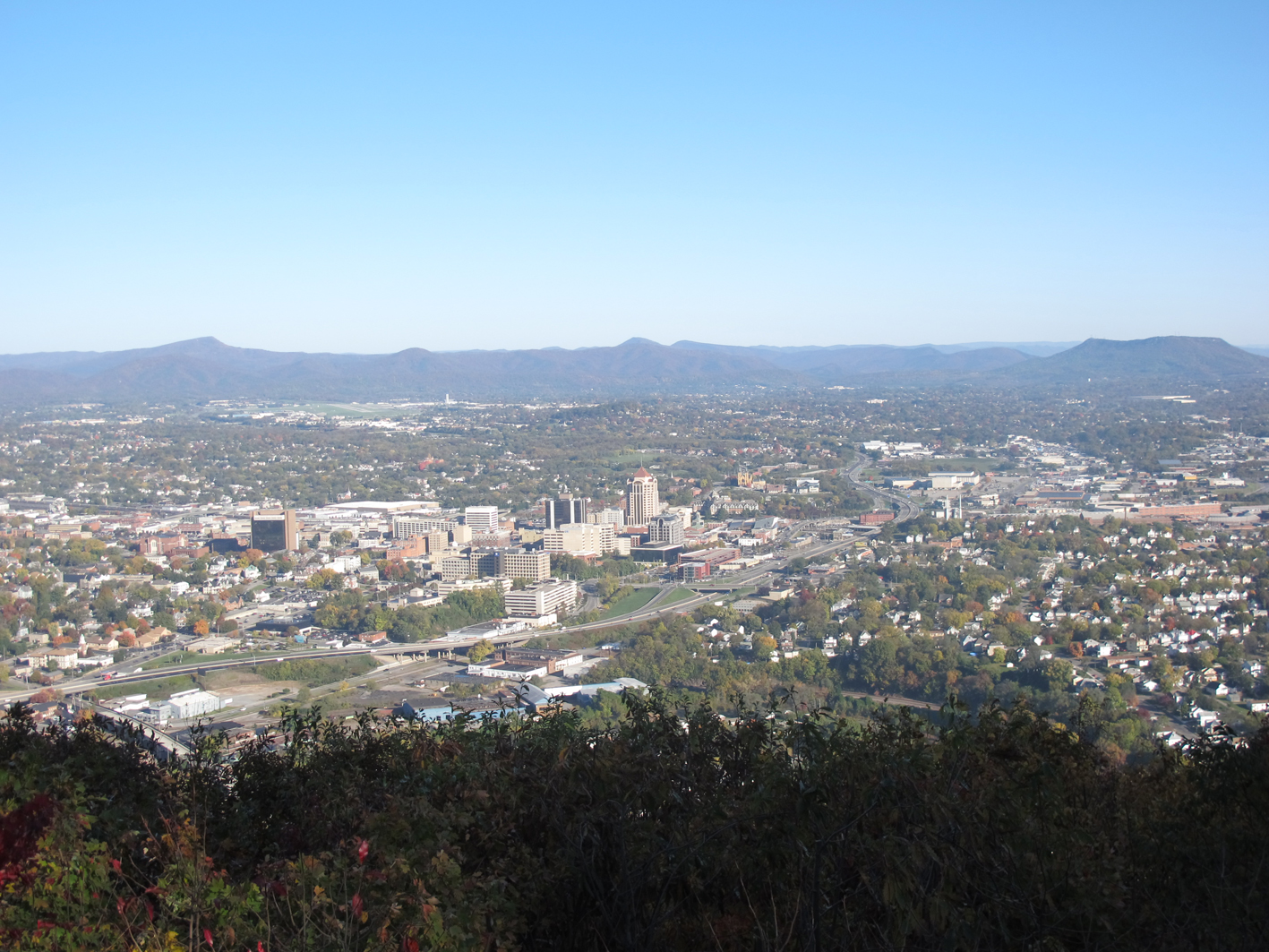 Nestled in the valley, Roanoke enjoys spectacular views of Virgnia's Blue Ridge Mountains.