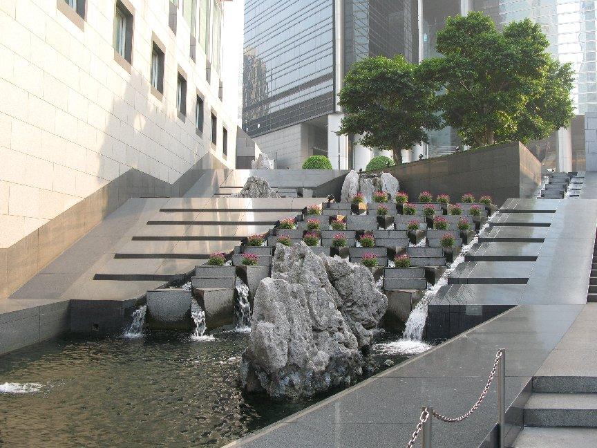 rocks outside China Bank The Business of Feng Shui