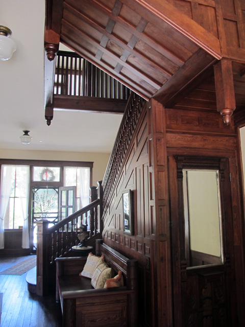The hanging staircase in The Planetary Court building is an architectural marvel