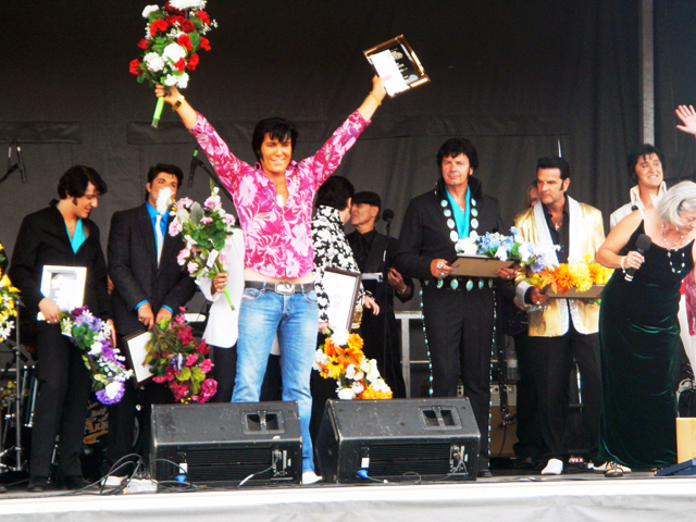 The Winner with a plethora of Elvisess