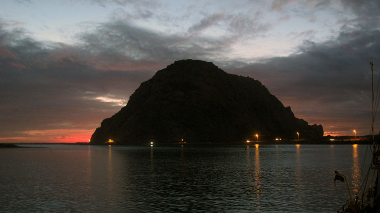 Life by the Rock - Morro Rock at sunset