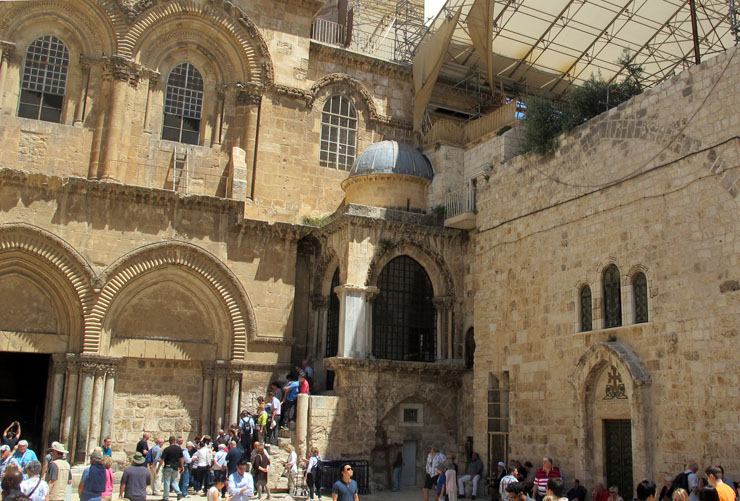 outside the Church of the Holy Sepulchre - City of Peace