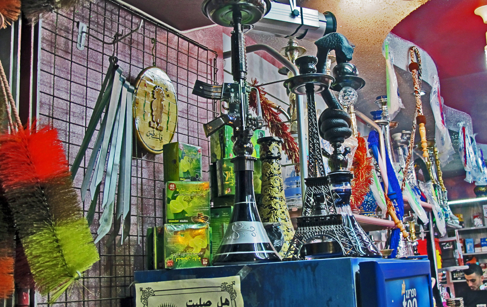 Inside a market shop with oddments - City of Peace
