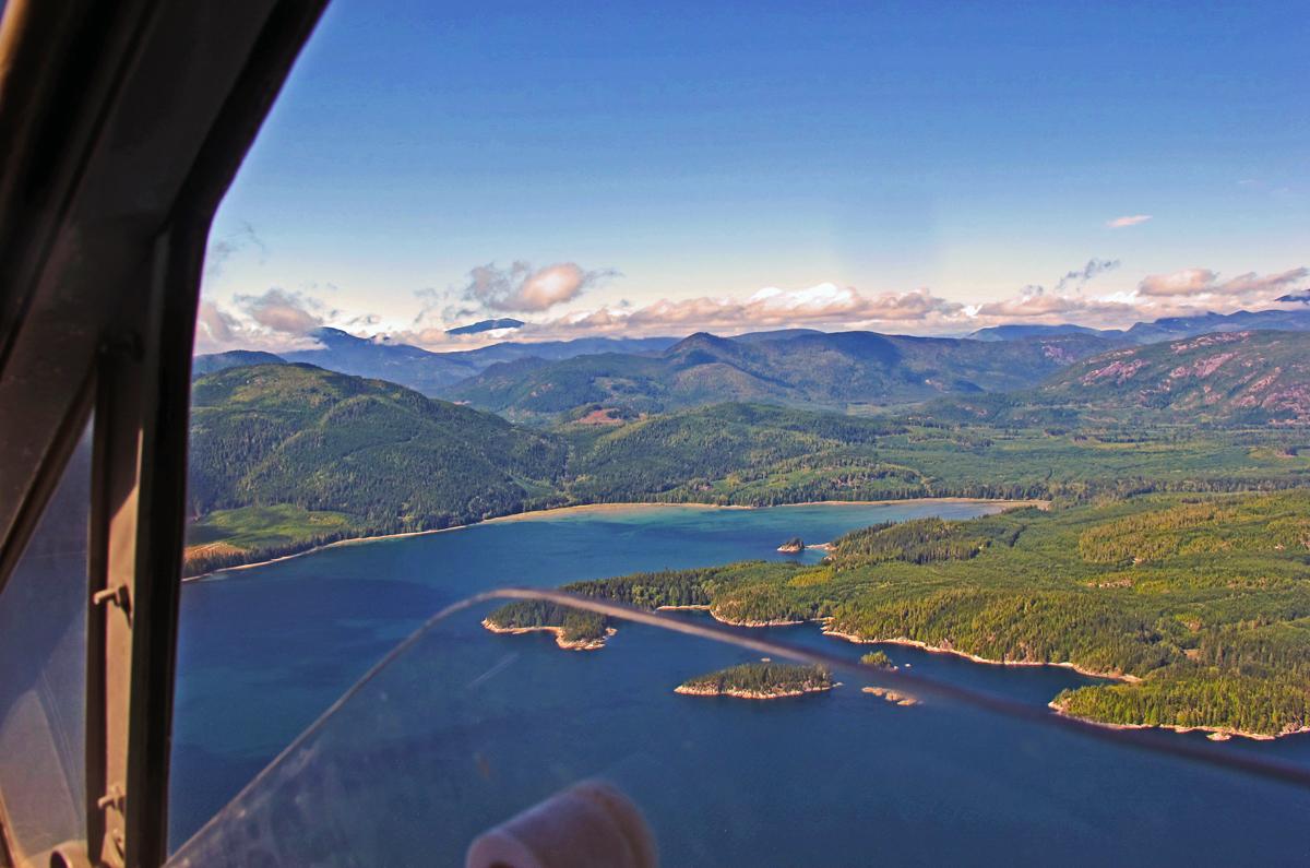 float plane panorama British Columbia - Gone Fishin'
