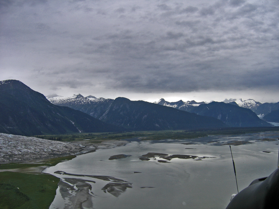 from the helicopted Alaska