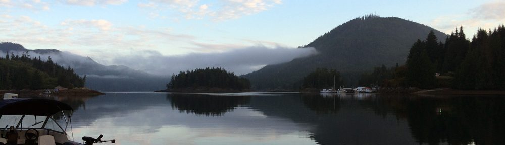 Float lodge view Knight Inlet British Columbia - Gone Fishin'