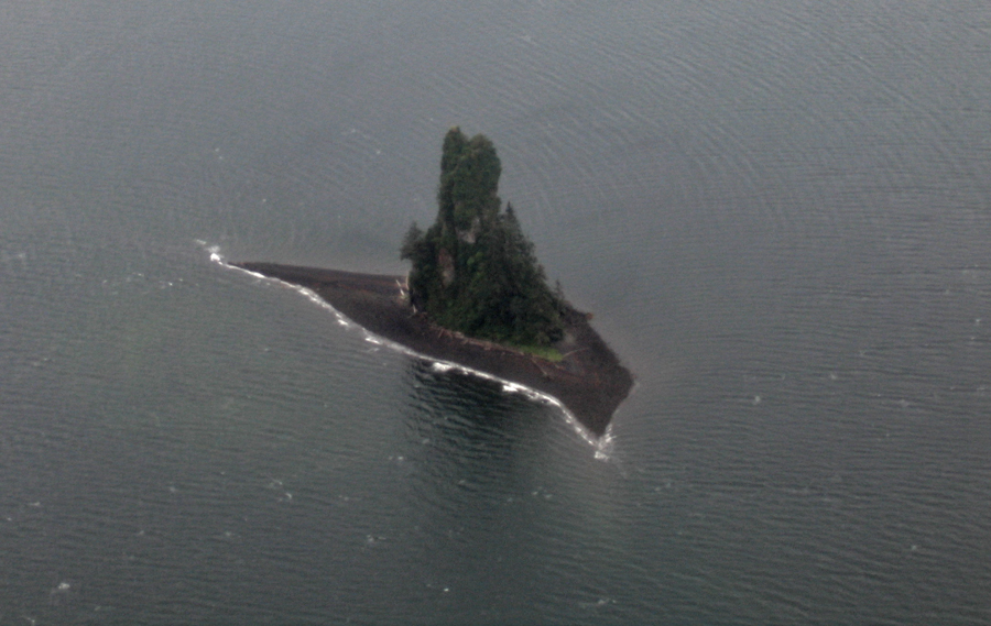 island from the air Alaska