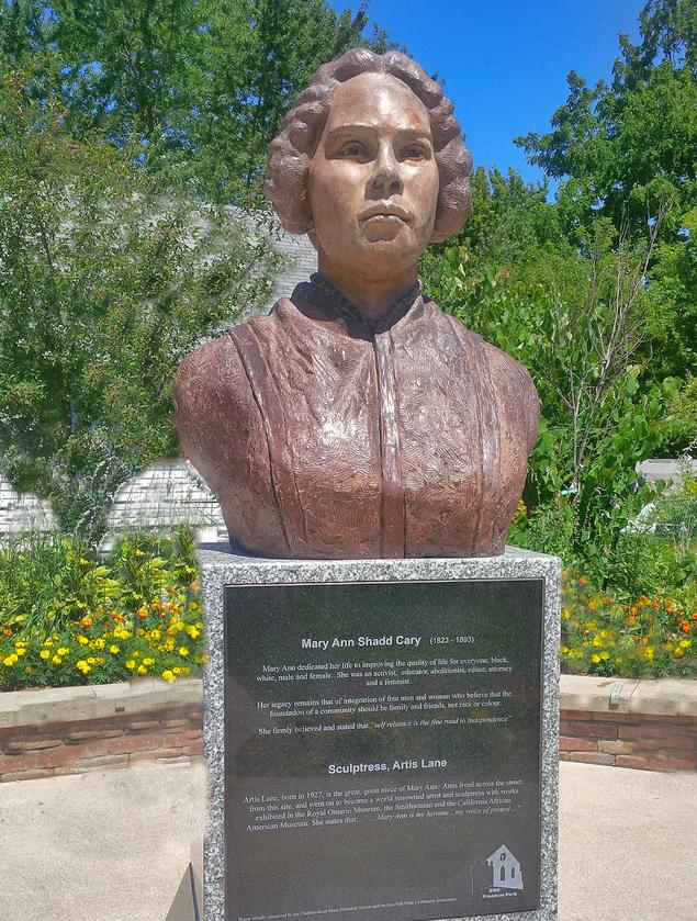 Mary Ann Shadd sculpture