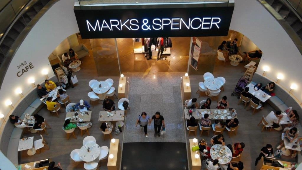 Overhead view of afternoon tea at Marks & Spencers in Singapore-Dining capital of Asia