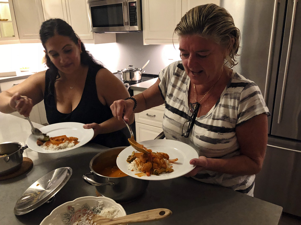 Finding Our Muskoka Soul -helping ourselves from the pots of food