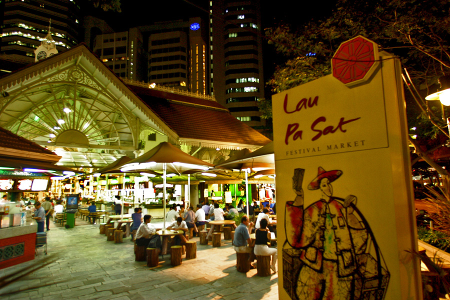 hawker centre in Singapore - the dining capital of Asia