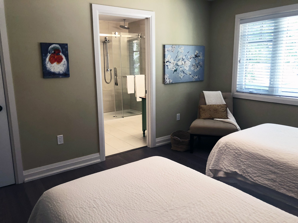 Finding Our Muskoka Soul - bedroom at Cliff Bay House