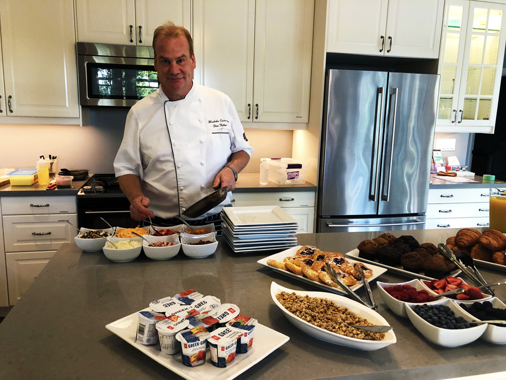 Finding Our Muskoka Soul -Chef Potter cooking omelettes