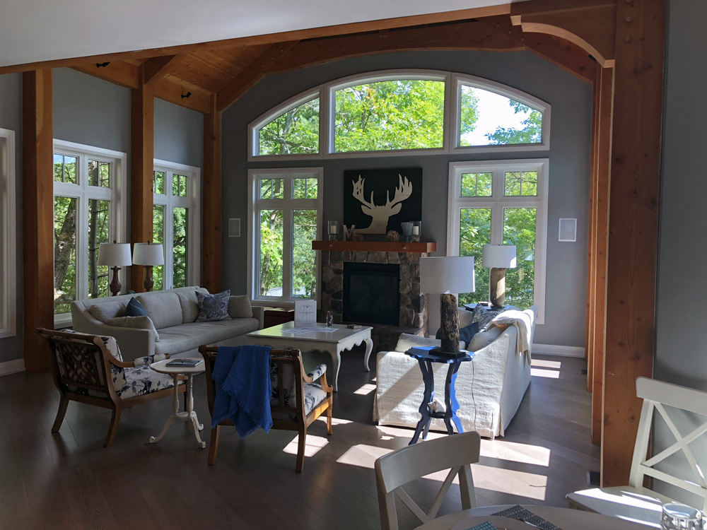 Finding Our Muskoka Soul - - fireplace and cosy room