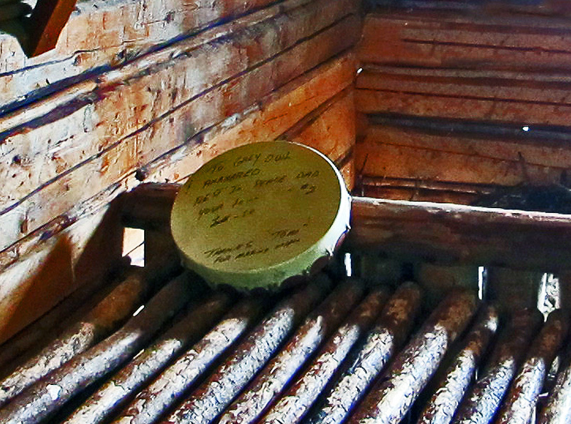 drum on the bed in the cabin interior In Search of a Legend - Grey Owl