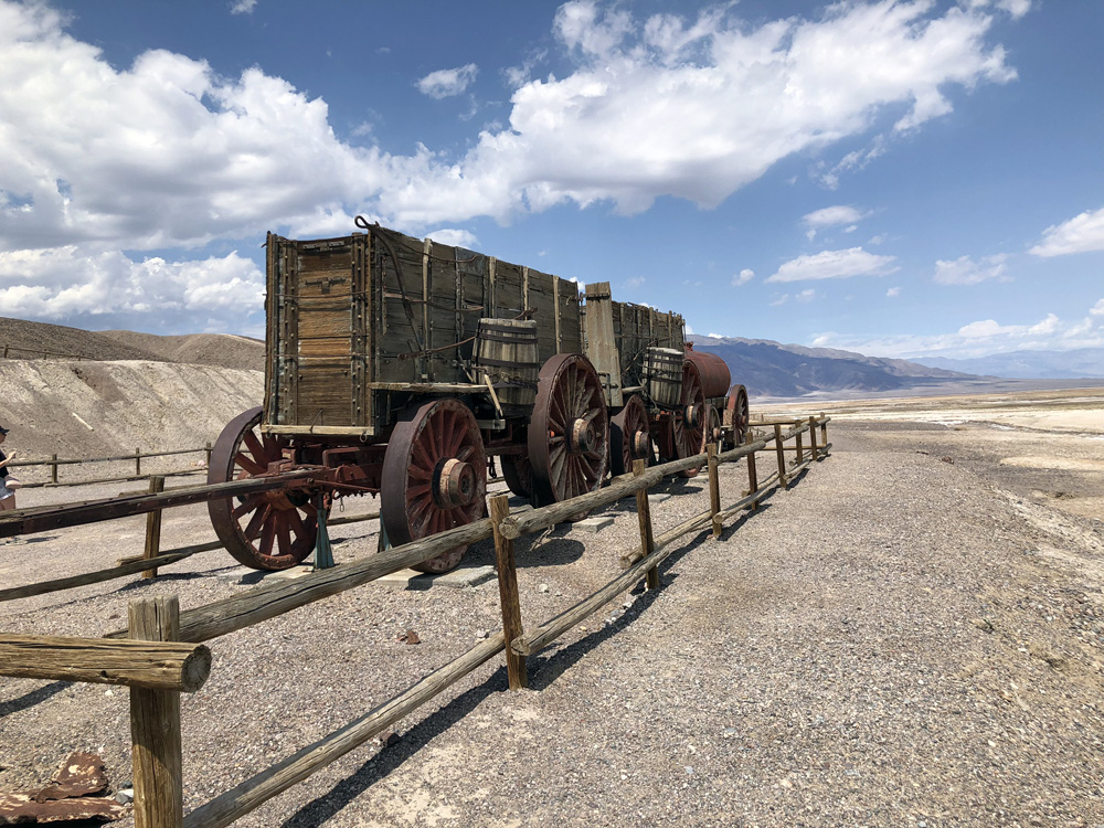wagons which were once pulled by mules