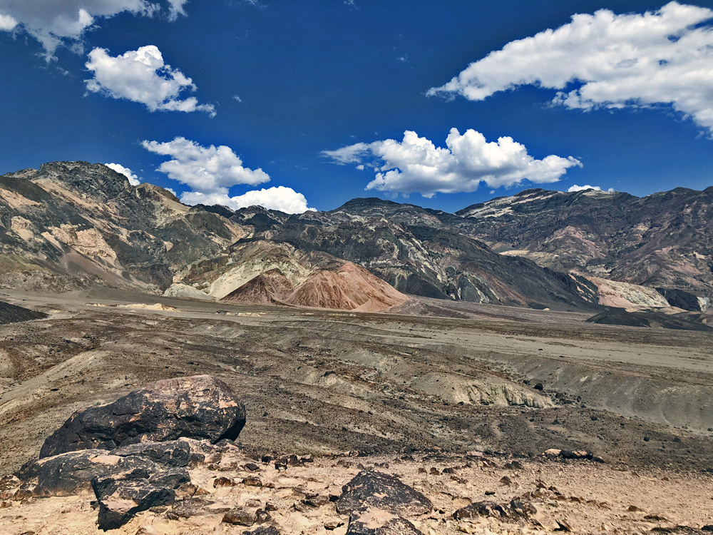 Colourful landscape of stones