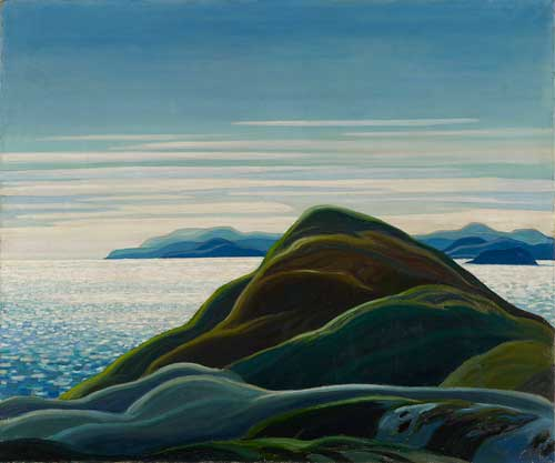 Franklin Carmichael's painting of Lake Superior.